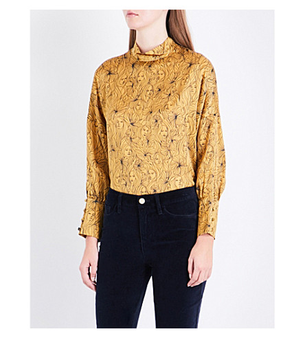 Free Shipping Sale Claudie Pierlot Printed Silk Blouse Free Shipping Supply Sale Outlet 2018 Newest Clearance With Mastercard nSapaH