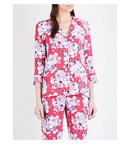 CLAUDIE PIERLOT Constance floral-print crepe shirt (Rose+ceremonie