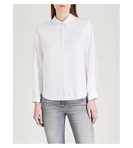 CLAUDIE PIERLOT Striped cotton shirt (Cream
