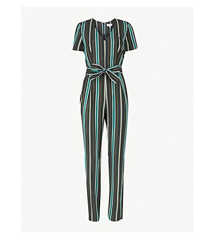 CLAUDIE PIERLOT Jess striped twill jumpsuit (Black
