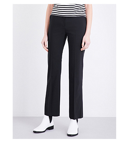 CLAUDIE PIERLOT Pepite cropped woven trousers (Noir