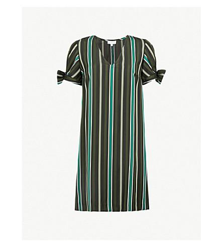 CLAUDIE PIERLOT Striped woven-twill mini dress (Black