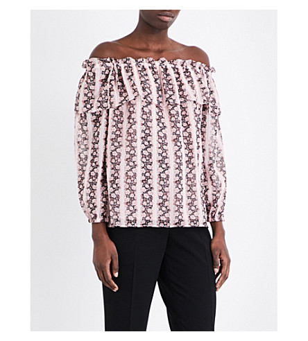 CLAUDIE PIERLOT Bellagio off-the-shoulder top (Blush