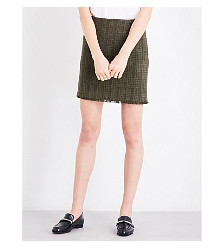 CLAUDIE PIERLOT Sand tweed mini skirt (Kaki