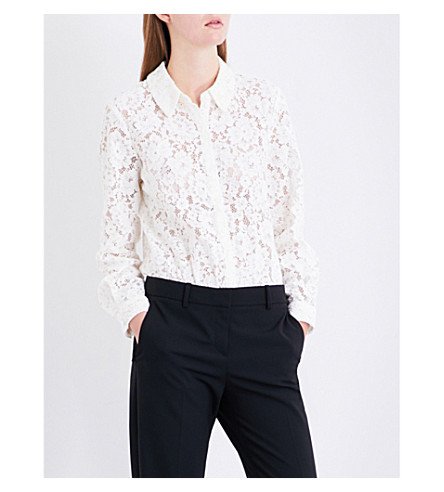 CLAUDIE PIERLOT Floral-lace and jersey body (Ecru