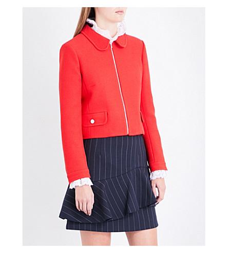 CLAUDIE PIERLOT Verite woven jacket (Ecarlate