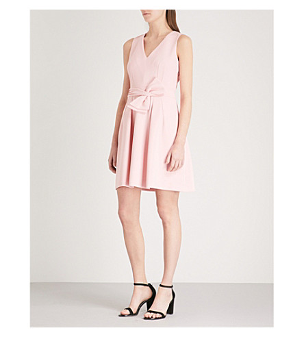 CLAUDIE PIERLOT Bow-embellished crepe dress (Pink