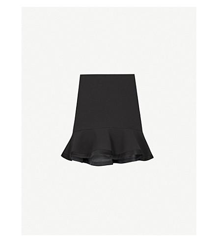 CLAUDIE PIERLOT Flared-hem crepe skirt (Black