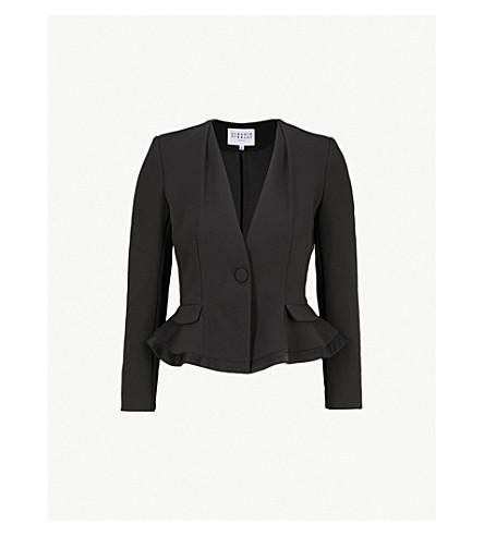 CLAUDIE PIERLOT Peplum-hem crepe blazer (Black