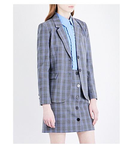 CLAUDIE PIERLOT 方格单排扣梭织夹克 (皮诺