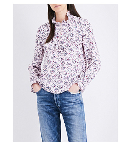 CLAUDIE PIERLOT Brenda crepe top (Rose+clair