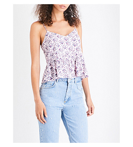 CLAUDIE PIERLOT Beyoung crepe top (Rose+clair