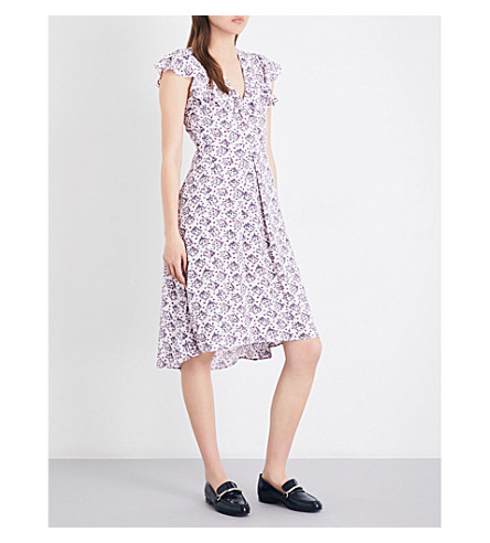 CLAUDIE PIERLOT Rosalie crepe dress (Rose+clair