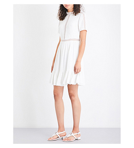 CLAUDIE PIERLOT Roanne gauze dress (Ecru