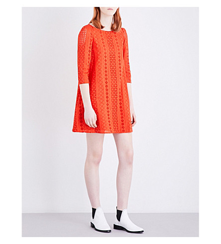 CLAUDIE PIERLOT Rififi broderie anglaise dress (Orange