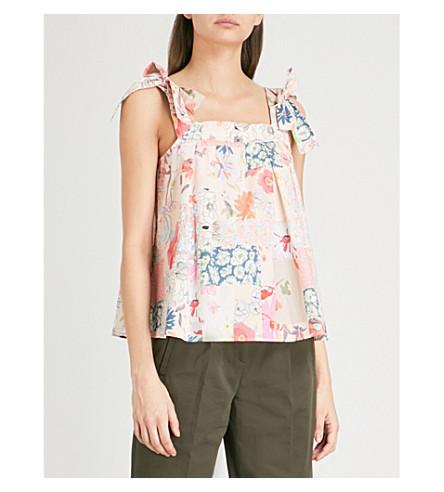 CLAUDIE PIERLOT Floral print cotton top (Pink
