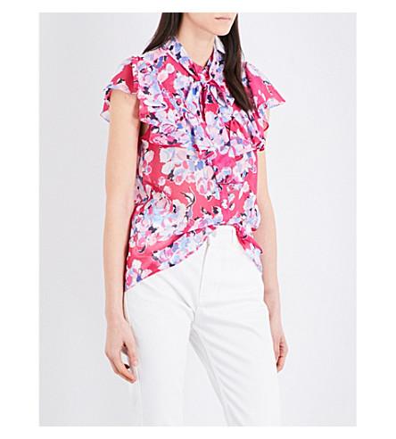CLAUDIE PIERLOT Cachemire chiffon shirt (Fuchsia