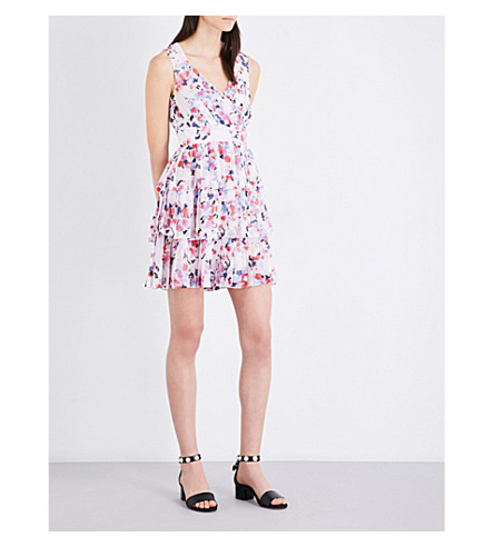 CLAUDIE PIERLOT Roucoulade chiffon dress (Rose+pale