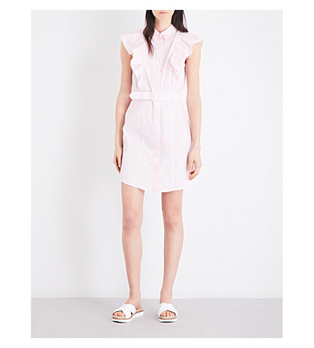 CLAUDIE PIERLOT Rose cotton-poplin dress (Rose+pale
