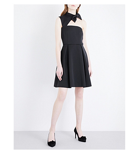 CLAUDIE PIERLOT Bow-detail satin dress (Noir