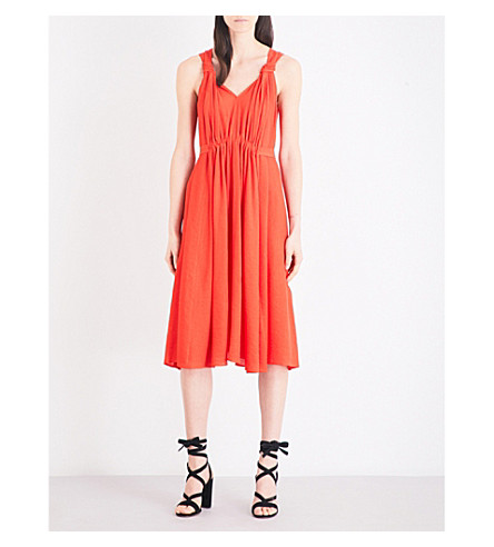 CLAUDIE PIERLOT Rousse woven dress (Orange
