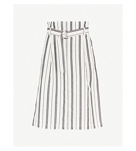 CLAUDIE PIERLOT 条纹编织裙 (奶油
