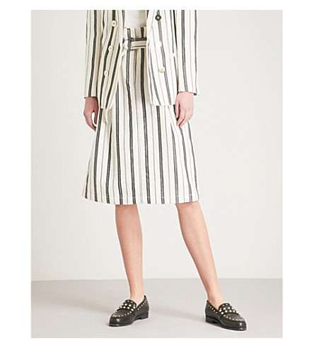 CLAUDIE PIERLOT Striped woven skirt (Cream