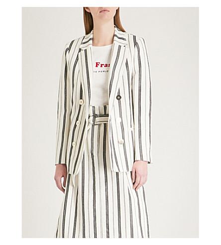 CLAUDIE PIERLOT Striped woven jacket (Cream