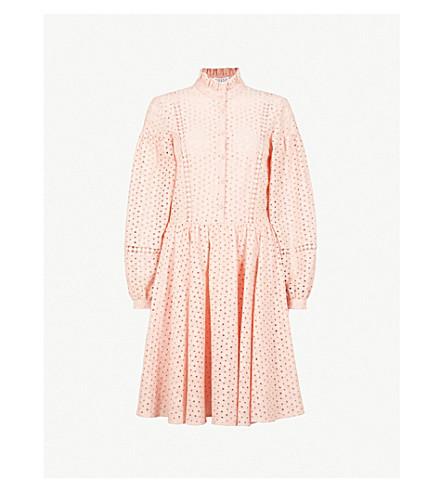 CLAUDIE PIERLOT 刺绣棉连衣裙 (粉红色