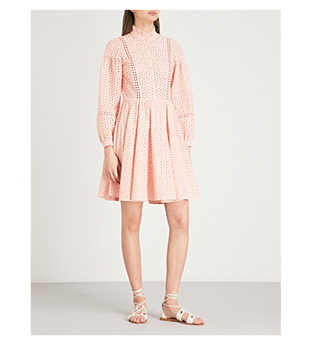 CLAUDIE PIERLOT Embroidered cotton dress (Pink