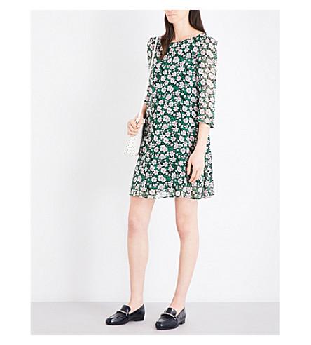CLAUDIE PIERLOT Rififi Fleurs chiffon dress (Vert
