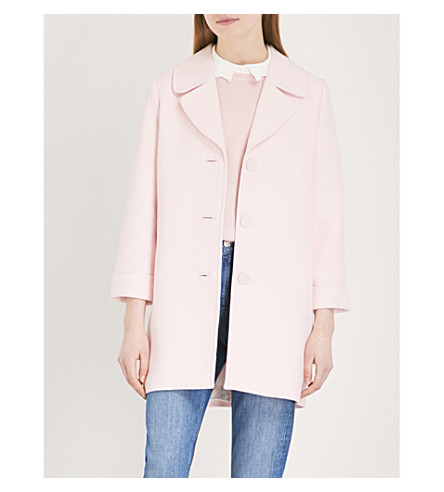 CLAUDIE PIERLOT Lined woven coat (White