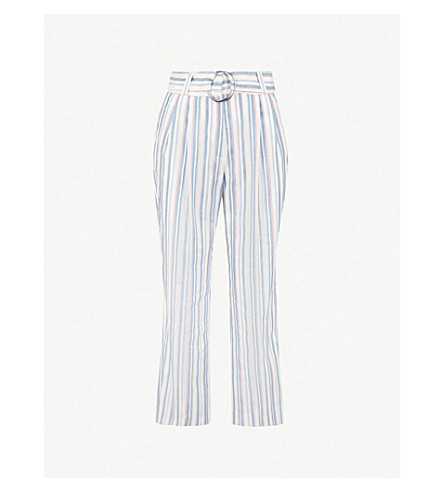 CLAUDIE PIERLOT Oxford-woven trousers (Cream