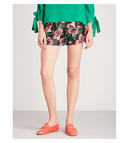 CLAUDIE PIERLOT Floral jacquard shorts (Black
