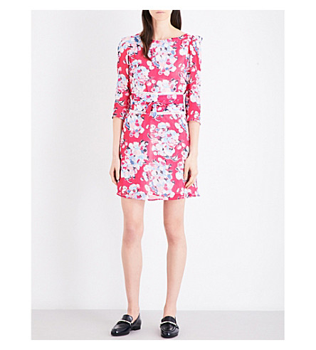 CLAUDIE PIERLOT Rififi Love chiffon dress (Fuchsia