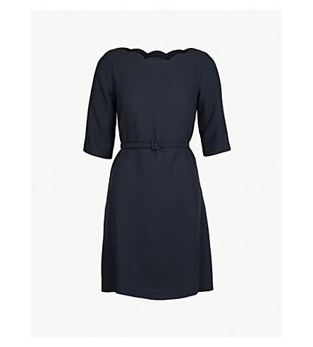 CLAUDIE PIERLOT Scalloped neckline crepe dress (Blue
