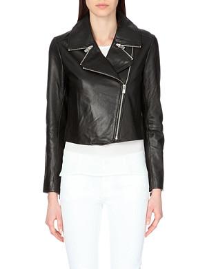 CLAUDIE PIERLOT Caroline leather jacket
