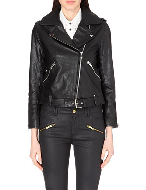 CLAUDIE PIERLOT Classique leather jacket