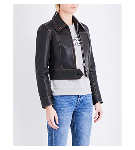 CLAUDIE PIERLOT Caramel leather jacket (Noir
