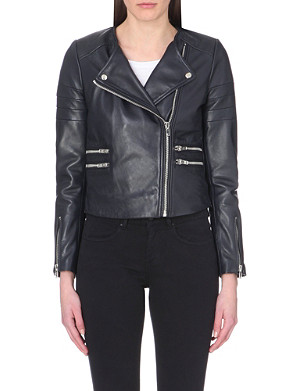 CLAUDIE PIERLOT Cassandre leather jacket