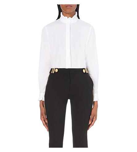 CLAUDIE PIERLOT Colombine cotton shirt (Blanc