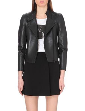 CLAUDIE PIERLOT Asymmetric leather jacket