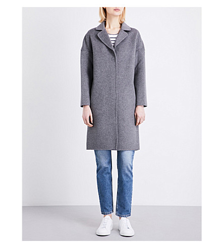CLAUDIE PIERLOT Galva wool-blend coat (Gris+chine