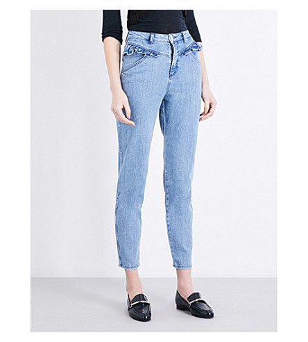 CLAUDIE PIERLOT Pulp high-rise skinny cropped jeans (Jean
