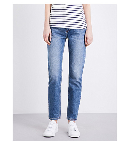 CLAUDIE PIERLOT Perle tapered high-rise jeans (Jean