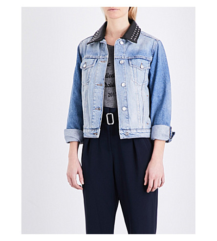 CLAUDIE PIERLOT Victory denim jacket (Jean