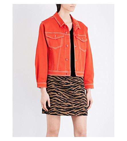 CLAUDIE PIERLOT Vermeil denim jacket (Orange