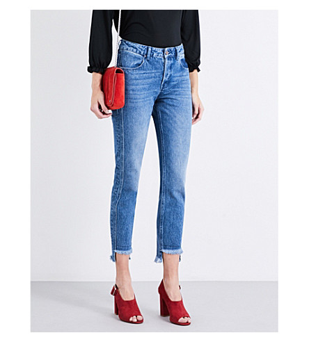 CLAUDIE PIERLOT Pegase stepped-hem slim high-rise jeans (Jean