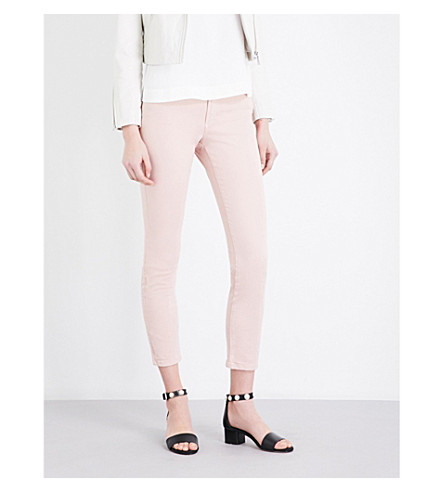 CLAUDIE PIERLOT Pam high-rise skinny jeans (Rose+pale