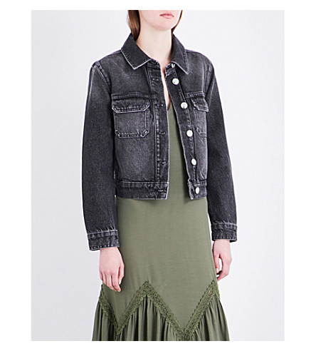 CLAUDIE PIERLOT Voltige denim jacket (Gris